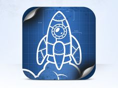 Backyard Spaceship iOS icon by Laurents Laire