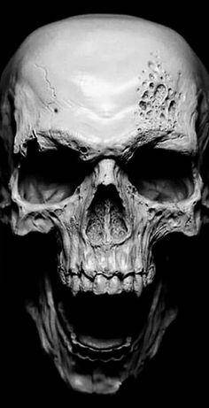 Asphalt Angel - Asphalt You are in the right place about Asphalt Angel Tattoo Design And Style Galleri - Skull Tattoo Design, Skull Design, Skull Tattoos, Evil Skull Tattoo, Tattoo Model Mann, Tattoo Caveira, Grim Reaper Art, Vampire Skull, Feminine Tattoos
