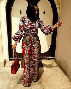 Top Unique Ankara Jumpsuit You Should Rock To Your Next Party - Wedding Digest Naija African Print Dresses, African Dresses For Women, African Wear, African Attire, African Fashion Dresses, African Women, African Prints, Ankara Fashion, African Style