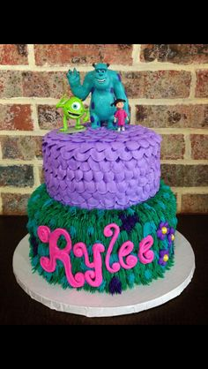 Monsters Inc Birthday Cake Cain Monster Inc Birthday