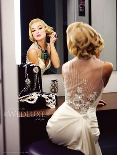 Lady lux! inesdisanto.com  How beautiful!  Sheer back with detail. #weddingdresses