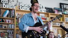 Andrew Hozier-Byrne, a 24-year-old Irish singer-guitarist, wraps his rich, vital, soulful voice around songs rooted in the blues. Here, Hozier and his band perform in the NPR Music offices.