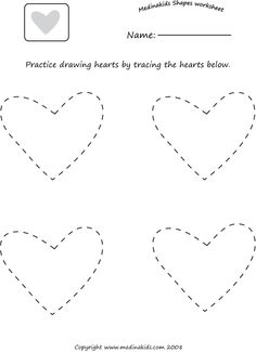 Printables Heart Worksheets heart shapes worksheets pinterest tracing hearts shape worksheet