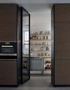 Poliform Varenna Trail kitchen by Carlo Colombo and CR&S Varenna.