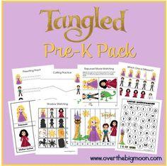 FREE Tangled Printable Pre-K Pack!