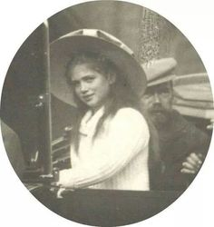 Tsar Nicholas ll of Russia with his third daughter Grand Duchess Maria Nikolaevna Romanova of Russia.A♥W