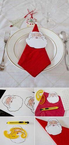 Deze kunst van servetjes is supergaaf.. Perfect voor je kerstdiner!