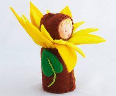 Sweet Waldorf Inspired Flower Doll