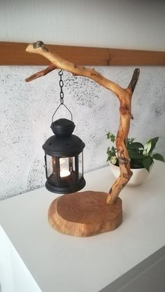 Amazing DIY Home Decor Craft Ideas, You Can Easily Complete unique table tea lamp candle holder driftwood lantern wooden light DIY gift idea homedecor branch lamp natural handmade design tree crafts handmade unique table tea light lantern. Handmade Design, Handmade Home Decor, Diy Home Decor, Diy Decorations For Home, Handmade Crafts, Room Decorations, Diy Crafts For Home Decor, Handmade Lamps, Handmade Ideas