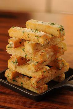 Garlic, parsley, and parmesan cheese french fries