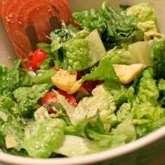 Romaine Lettuce with Roasted garlic and parm dressing