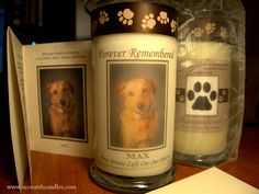 Made with love and totally awesome Etsy listing at https://www.etsy.com/listing/227916846/customized-pet-memorial-candles-20-oz