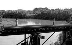 Children on the river Kwai bridge.    http://www.hello-thailand.net/