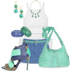 I love Summer, created by johnna-cameron on Polyvore
