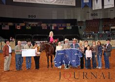 The 2009 Farnam Superhorse Award was presented to the 2004 stallion, The Krymsun Kruzer, who is owned by Geri Pratt. Visit http://www.AQHA.com/showing for more great American Quarter Horse showing news. (Journal Photo)