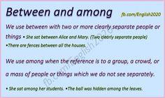 Between and Among