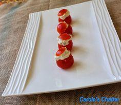 Carole's Chatter: Cheese Stuffed Tomato Bites
