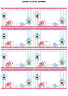 Imagem - Educação Infantil - Aluno On Flash Card Template, Free Printable Card Templates, Printable Labels, Storyboard Template, School Name Labels, Name Tag For School, Train Party Decorations, Felt Decorations, Bird Birthday Parties