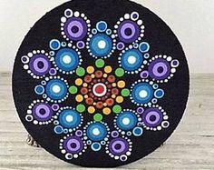 Hand Painted Mandala Magnet 23