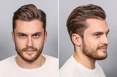 mens hairstyles over 50 Classic Mens Hairstyles, Mens Hairstyles With Beard, Cool Hairstyles For Men, Cool Haircuts, Hair And Beard Styles, Haircuts For Men, Classic Haircut, Easy Hair Cuts, Wacky Hair