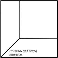 """Attic Window Quilt Patterns this page has several templates that are not """"pinable"""""""