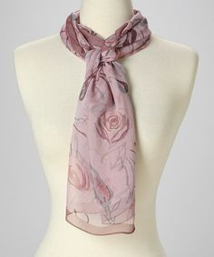 Love this Pink Blossom Silk Scarf on #zulily! #zulilyfinds