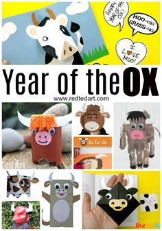 Year of the Ox Crafts for Chinese New Year 2021 - Red Ted Art