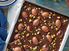 http://hot---celebs.tumblr.com   Easter Egg slice    If youre looking for something a little different for Easter, this choc-nut treat fits the bill beautifully. Its easy to make and decadent to the last bite! easter-recipes