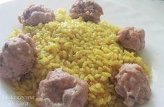 En la cocina de Sara: Recetas para estuche de vapor Lékué (II) Arroz Al Curry, Healthy Recipes, Healthy Food, Risotto, Ethnic Recipes, Chicken Meatballs, Fruits And Vegetables, Cooking Recipes, Ethnic Food