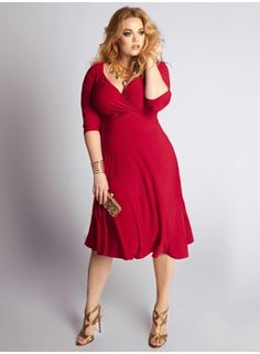 Plus Size Francesca Dress in Crimson    Feel subtly seductive in this season's rich red hue. Whether on it's own with standout jewels or wear it belted and this basic dress goes from casual to chic in an instant. Add nude pumps or strappy heels and gold embellishments.
