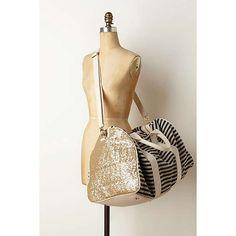 Anthropologie - Striped & Sequined Weekender ($148.00)