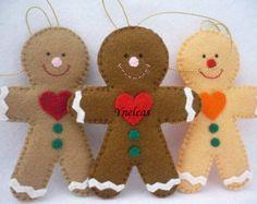 Christmas Ornaments felt Gingerbread man ornament by MyMagicFelt                                                                                                                                                                                 Mais