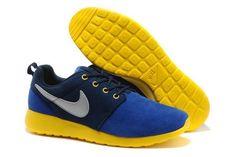 Nike Roshe Run Læder Mørkblå Gul Grå Unisex