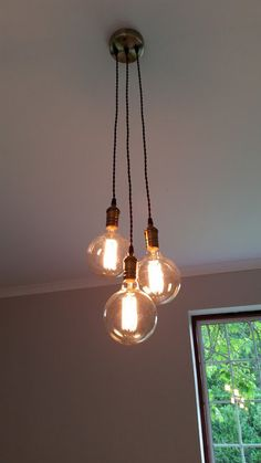 3 Cluster Any Colors Multi Pendant Hanging by HangoutLighting