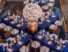 Blue and pink wedding decor Pink Wedding Receptions, Blue Wedding Decorations, Gender Reveal Party Decorations, Wedding Themes, Wedding Centerpieces, Wedding Table, Our Wedding, Dream Wedding, Wedding Ideas