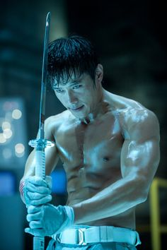 Byung-hun Lee in G.I. Joe: Retaliation.  I went to see this movie tonight and this guy stole the show with his hotness!