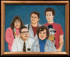 """Kirk Demarais, """"The McFlys"""", Colored Pencil, 11"""" x 14"""", 2010, For """"Crazy 4 Cult 4"""" show at Gallery1988"""