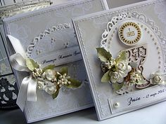 ... czyli kartki w pudełeczkach dla komunijnych małych dam i kawalerów :)                                                                 ...