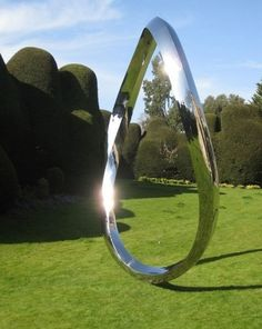 Stainless steel Abstract Contemporary or Modern Outdoor Outside Exterior Garden / Yard Sculptures Statues statuary sculpture by artist Wenqin Chen titled: 'Endless Curve No.5 (Very.Big stainless Steel Contemporary statue)'