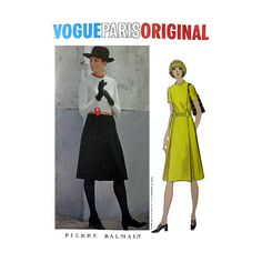 Vogue Paris Original Pattern 2526 Designer Pierre Balmain