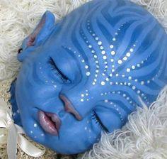 Na'vi Avatar style reborn baby by Little Liesign