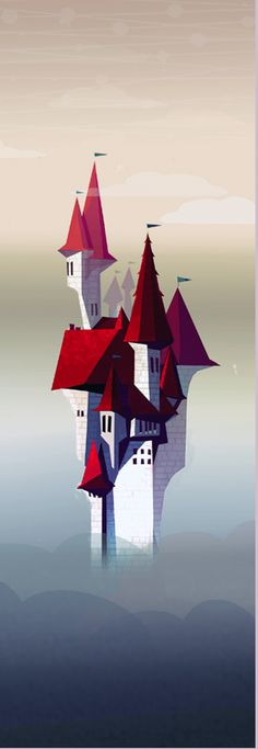 A little castle I drew back when I was playing around with graphic coloring styles. :P http://www.alisketch.tumblr.com/