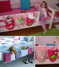 Hanging Bedside Caddy Organiser. Perfect for the girls's bunkbeds!!