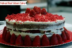 Fabiola Pasquini: Na cozinha #3: Naked Red Velvet Cake