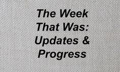 Clayton Mooney » The Week That Was