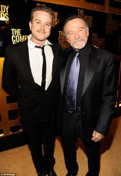 Like father, like son: Robin's oldest son, Zak - see here with his famous father in April ...