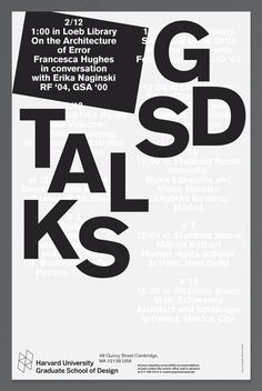 "designeverywhere:  "" Harvard University GSD Talks  """