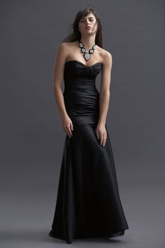 Sweetheart taffeta dress with dropped waist