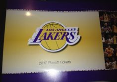 2012 LA LAKER PLAY-OFF TICKET BOOK. I hope with this new team WE will again make and go deep in the play-offs.