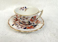 Booths China Fresian Pattern Cup and Saucer by SwedishGalsAntiques